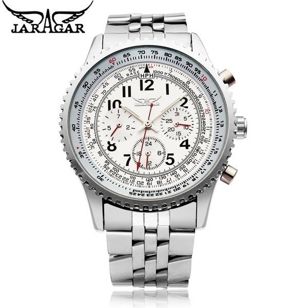 JARAGAR Casual Watch Erkek Kol Saati Men s 6 Hands Day Week 24Hours Auto Mechanical Wristwatch