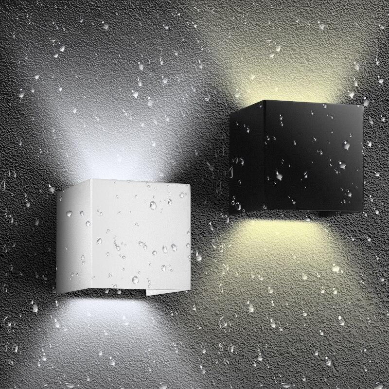 Nouveau Porche IP65 10 W Étanche En Plein Air intérieur Led Mur Lampe moderne En Aluminium Adjustab 90 ~ 260 V Éclairage Moderne 3 couleur ZXX0004