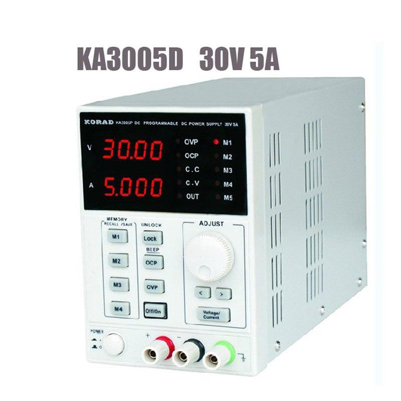 KA3005D Di Alta Precisione Regolabile Digitale DC Power Supply 4Ps MA 30 V/5A Per La Ricerca Scientifica Servizio Di Laboratorio