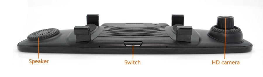 "7.86"" Junsun GPS Navigation 4G Android 5.1 Car DVR Rearview mirror FHD1080P dash camera car dvrs video recorder Dual Camera GPS"