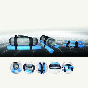 Image 5 - AC8001 PCP воздушная винтовка, Пейнтбольный бак, с синей ручкой, губка, крышка, газовая бутылка, протектор для HPA PCP, углеродное волокно, цилиндрический Acecare