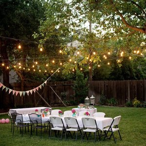 Image 5 - 5M 10M Waterproof Outdoor LED String Lights Commercial Grade E27 Bulbs Street Garden Patio Backyard Holiday party String Lights