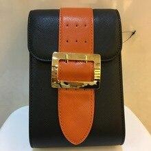 High quality women's Messenger bag metal buckle women's evening bag cell phone wallet