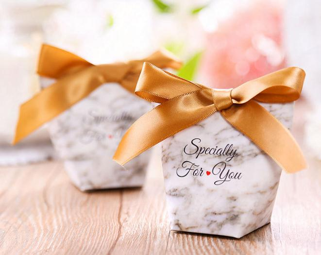100Pcs/set Upscale Candy Bag French Thank You Wedding