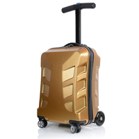 Letrend Творческий скутер прокатки Чемодан Spinner чемоданы тележки колеса Для мужчин Бизнес вести Дорожная сумка 20 дюймов Сумочка Trunk