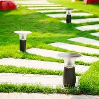 Solar Bollard Lights Outdoor Lawn Lamp led Garden Pathway Lights Waterproof 30/60cm Decorative Landscape Groud Light