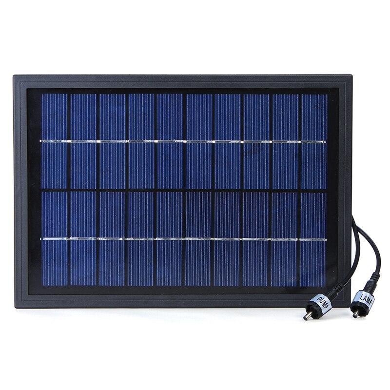 10V 5W Solar Power น้ำพุตกแต่งมี 6 LED Spotlight สำหรับสวนสระว่ายน้ำน้ำ Cycle-ใน ปั๊มน้ำ จาก บ้านและสวน บน   2