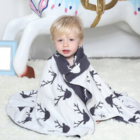 Baby Blacket 100 Cotton Newborn Baby Bedding Knitted Blanket Play Mat For Tent Cotton Muslin Fabric
