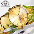 Business casual men women Wrist watches Diamond week clocks gold Fashion couple tungsten steel quartz watch waterproof calendar