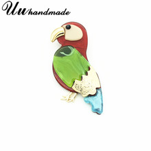 Pin Flamingo Enamel Lapel Pin Bros Bros untuk Wanita Gaun Broches Perhiasan Fashion Vintage Brocade Buket Aksesoris 2018(China)