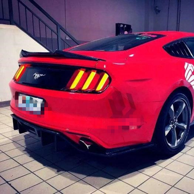 Carbon Fiber Matt Black Rear Trunk Boot Lip Spoiler Wing for Ford Mustang Coupe 2-Door 2015 2016 2017 Car Styling body kits front bumper parts rear diffuser car accessories for ford mustang coupe 2015 2017