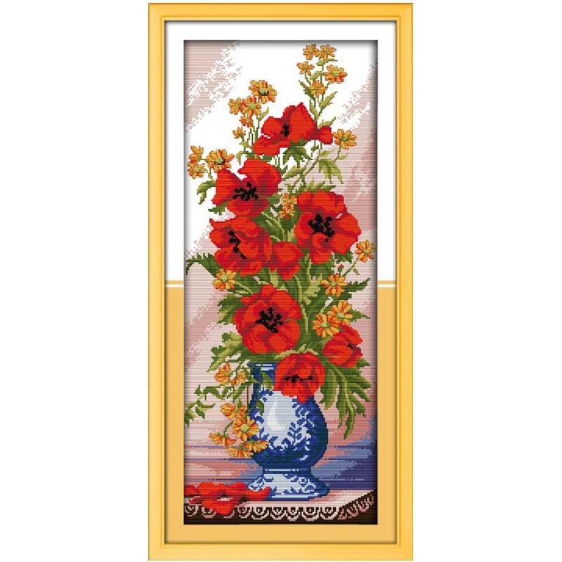 цветы вышивки крестом комплект