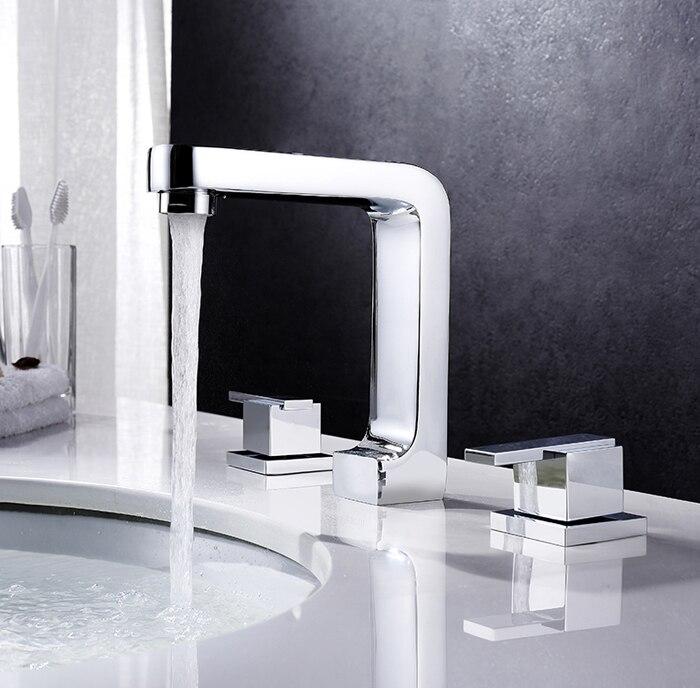 free shipping bathtub faucet bathroom 3 piece set faucet 8 inch widespread spout bathroom basin faucet