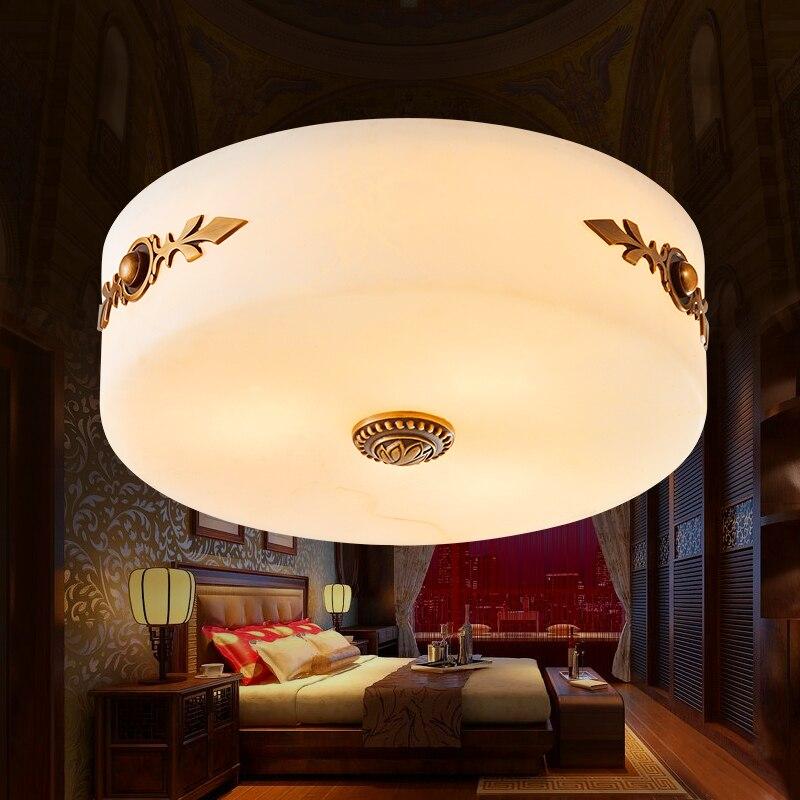 US $255.0  Die ketton nachahmung marmor lampen voll kupfer raum  deckenleuchten lampe schlafzimmer der Europäischen Amerikanischen Retro  deckenleuchte ...