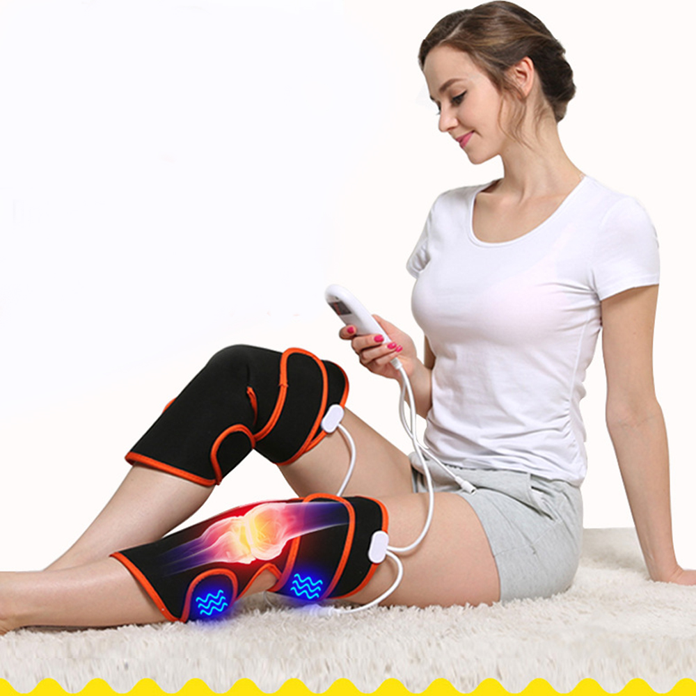 Electric Heating Knee Massager Pain Relief Vibration Massager Muscle Stimulator Magnetic Therapy Rheumatism Health Care Pads