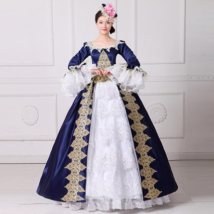 New Arrival Women Vintage Royal Court Queen Elegant Dress European Style  Halloween Make Up Party Cosplay Costume 848d477e9b41