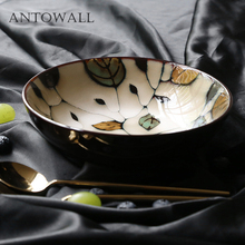 ANTOWALL Japanese ceramic tableware hand-painted ramen soup rice bowl home salad fruit bowl porcelain bowl