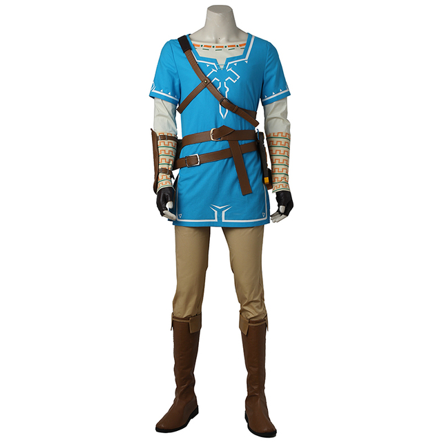 Game The Legend of Zelda Breath of the Wild Link Cosplay Costume Outfit Halloween Suit Party Carnival Adult Cosplay Custom Made