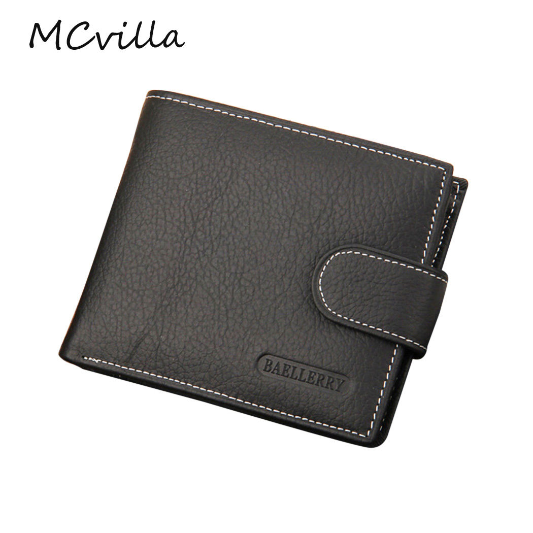 New Casual Wallets For Men New Design Leather Purse Men Wallet With Coin Bag Wholesale Free Brand Mcvilla