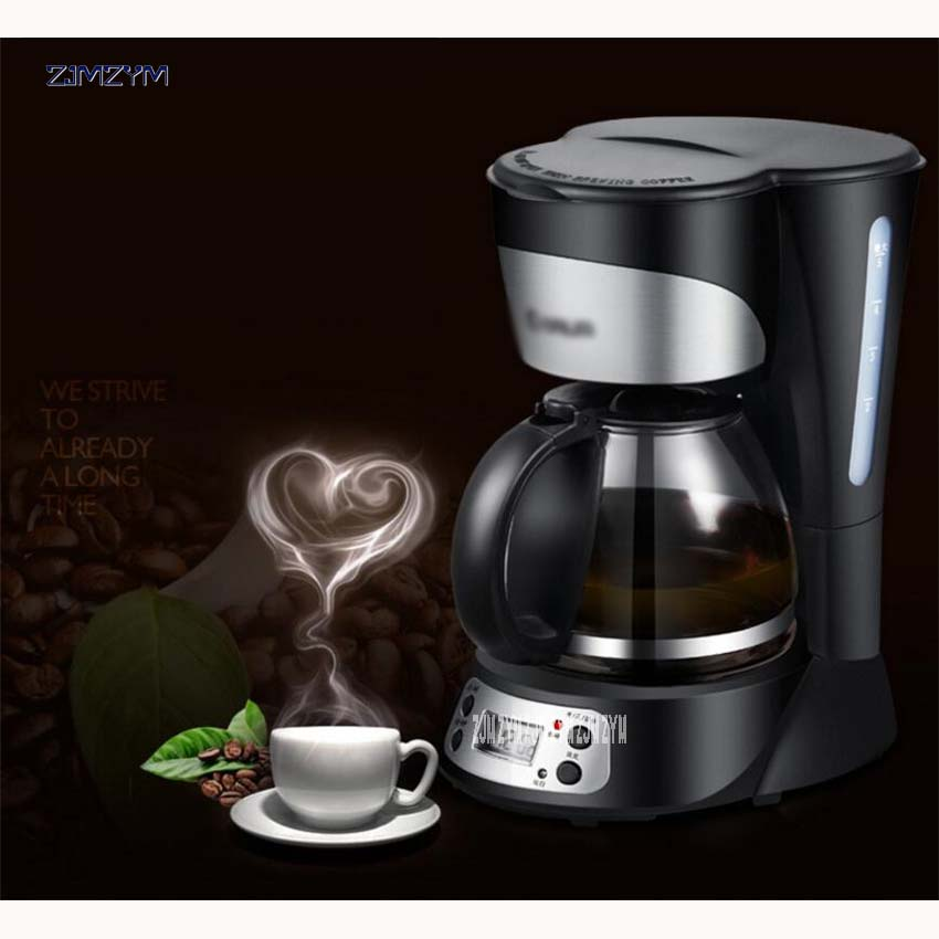 DL-KF300 750 ML 220V/50 Hz 800W Electric Drip Coffee Maker Machine Black Hourglass Make Cafe Tea Multifunctional fully-automatic coffee maker uses the american drizzle to make tea drinking machine