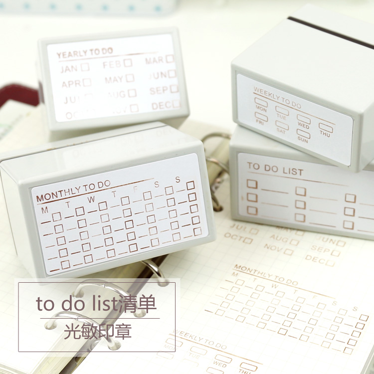 Korean Notebook Decorative Stamp To Do List Monthly Weekly Planner