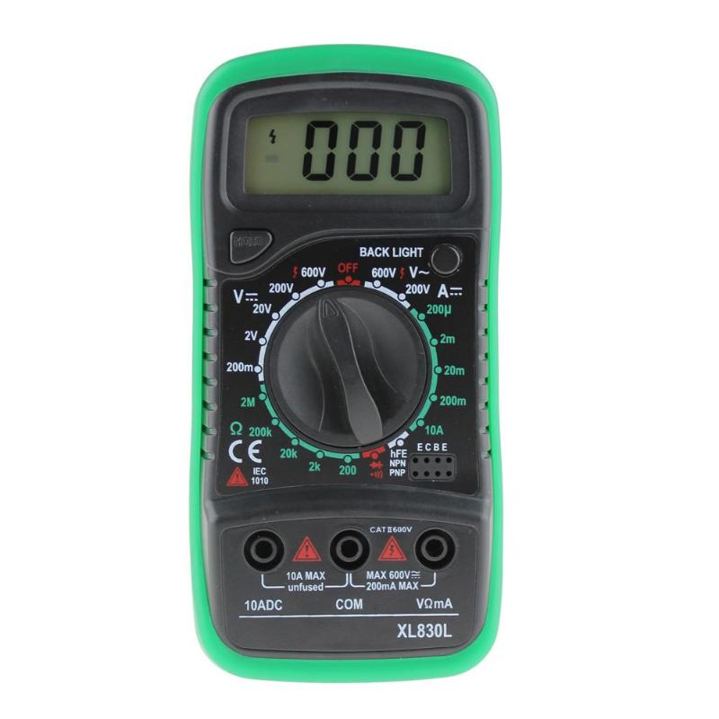 XL830L Digital Multimeter Voltmeter Ammeter AC DC OHM Volt Tester LCD Test Current Multimeter Overload Electrical Tool