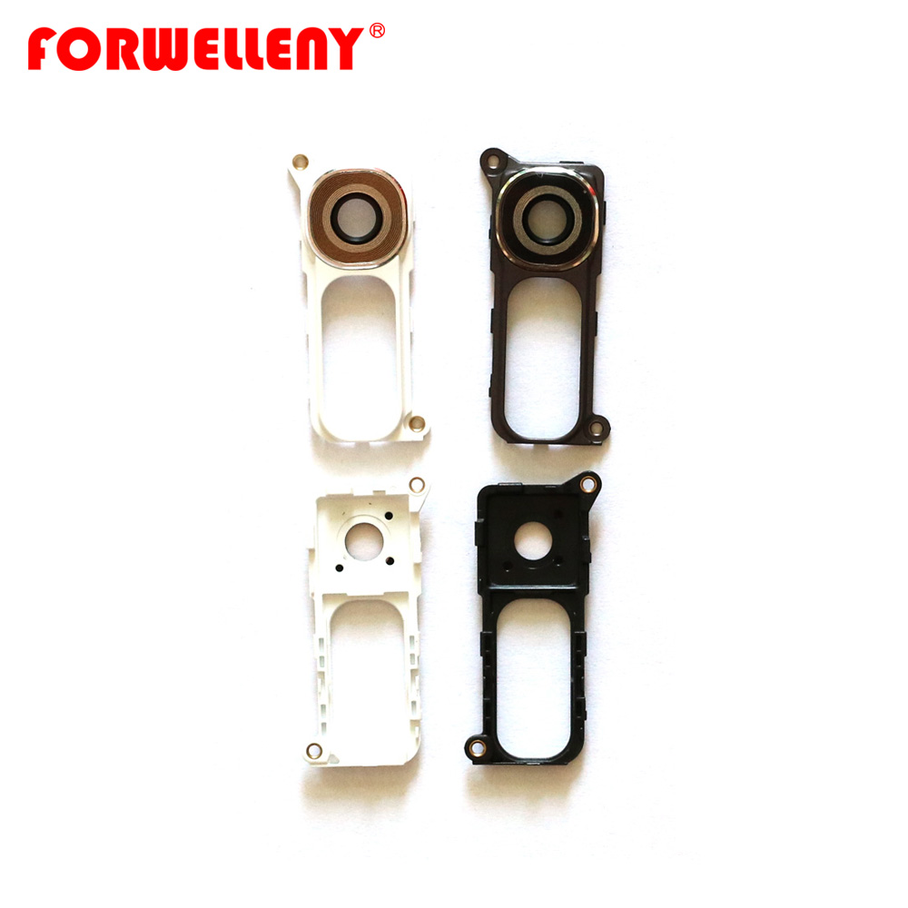 Rear Back Camera Lens Glass Cover with Metal Ring & Frame Replacement For LG G4 H810 H811 H815 F500 image