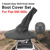For Fiat 500 500c 5 Speed Gear Shift Knob Gaiter Handball Boot Ring Cover Set Perfect