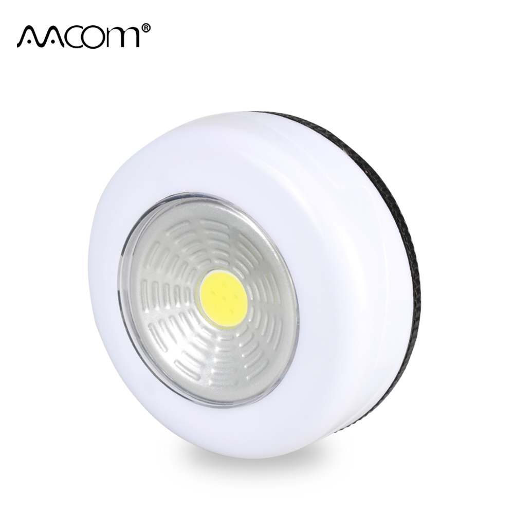 Portable 3W Cordless COB LED Under Cabinet Lights AAA Battery Powered Touch Control Easy Install Living Room Kitchen Wall Lamp(China)