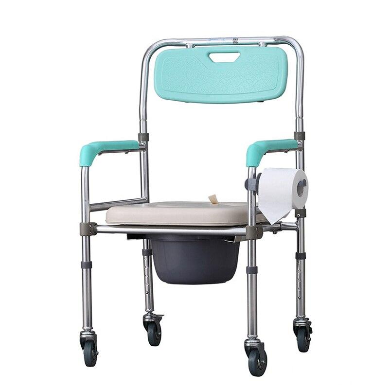 Herzhaft Hohe Qualität Kommode Stuhl Folding Einstellbare Kommode Wc Stuhl Mit Fußplatte Elegante Form