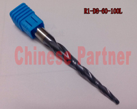1pc R1 D8 60 100L 2F HRC55 Tungsten Solid Carbide Coated Tapered Ball Nose End Mills