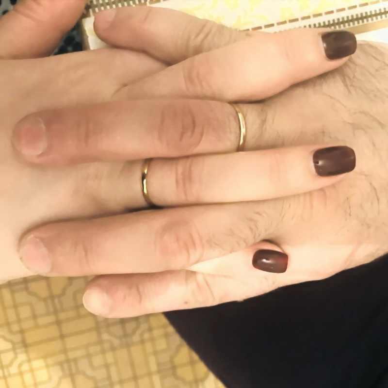 Jessiepepe ไทเทเนียมงานแต่งงานแหวนสแตนเลสสำหรับชายหรือหญิงคริสต์มาสของขวัญ # TR0002