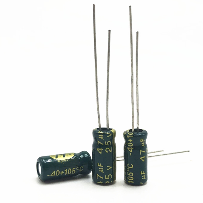 25V 47UF 5*11 High Frequency Low Impedance Aluminum Electrolytic Capacitor 47uf 25v 20%