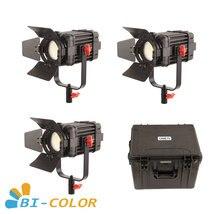 3 Pcs CAME TV Boltzen 60w Fresnel Fanless Fokussierbare LED Bi Farbe Kit Led video licht