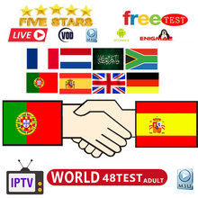 Best Stable 1 Year IPTV Portugal Spain IPTV Subscription 500+Live 700 Free VOD include eleven sport for Android Box M3U(China)