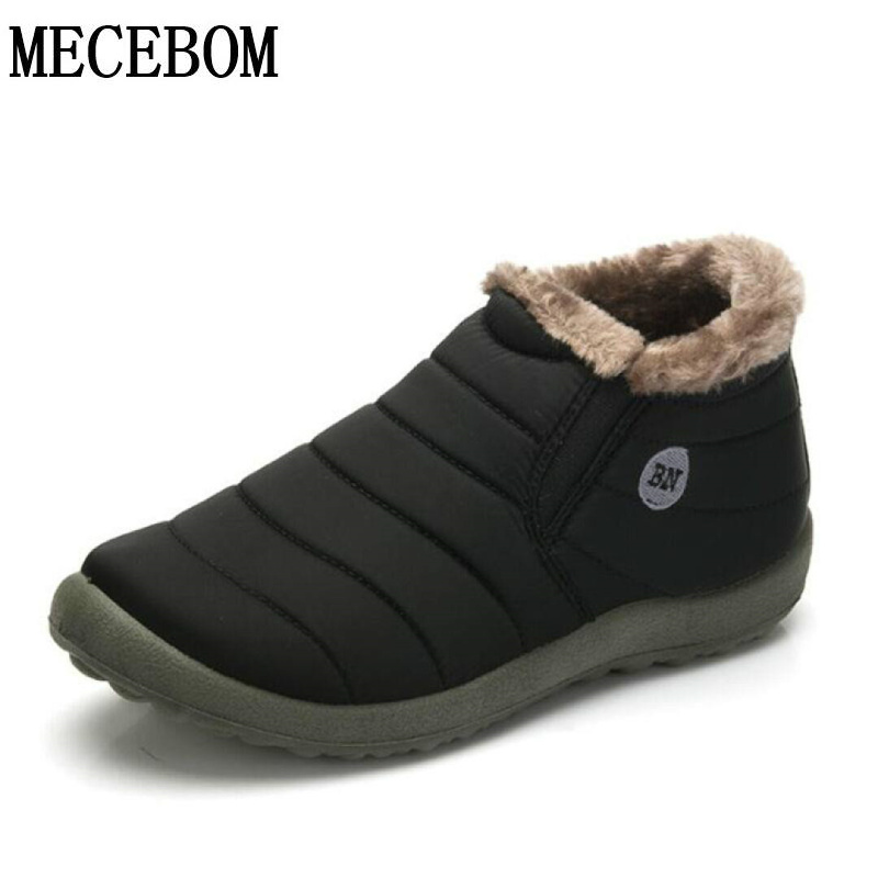 Men's Winter Snow boots large size 48 warm plush fur inside casual shoes slip-on comfortable waterproof ankle boots 816m new 2015 original warm snow boots women plush winter ankle boots comfortable lady flame design casual australia flat shoes