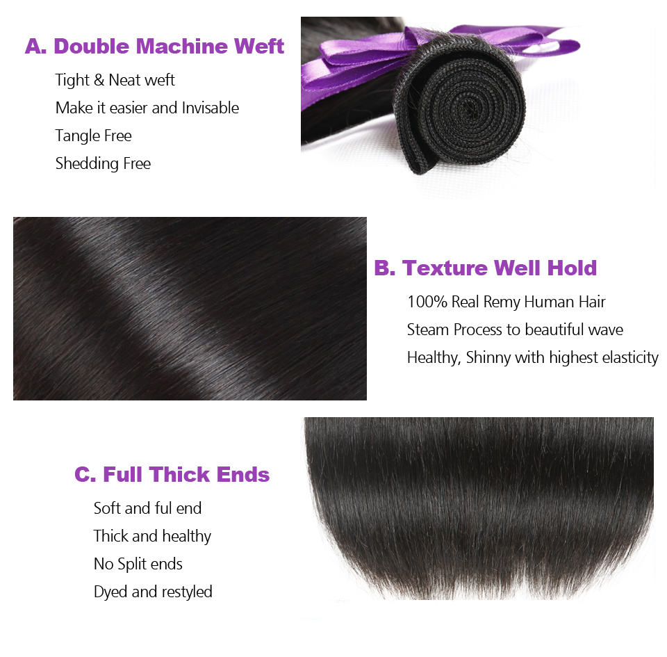Isheeny Brazilian Straight Hair Weave Bundles 100% Real Remy Human Hair Bundles 1pc Natural Color 8 30 Inches Bundle Hair