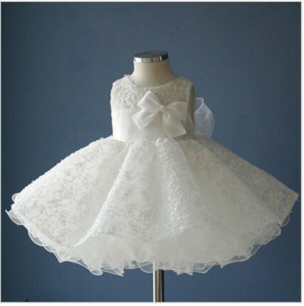 0d030a5b04e Noble white chiffon baptism christening gown