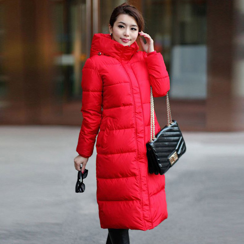 2017 winter fashion new style women plus size hooded thickening high quality cotton slim long coat wadded jacket parka new arrival fashion korean slim long sleeves hooded collar zippers thickening mid long cotton wadded overcoat women coat h5812