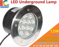 12W LED Underground Lamps 12V 24V 110V 220V 85 265V Outdoor IP67 Waterproof Buried lights DMX512 Color Garden Lighting CE