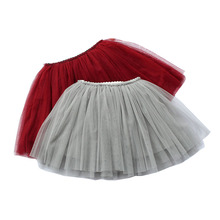 Summer Lovely Fluffy Soft Tulle Baby Girl Tutu Skirt Pettiskirt 11 Colors Girls Skirts For 9M-8Y 3 Layer Yarn With Cotton Lining valentine black ruffle rainbow hearts girl pettitop black petal pettiskirt nb 8y mapsa0121