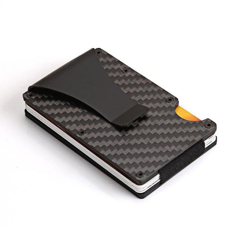 Itopkris Aluminium Kreditkarteninhaber Reiseveranstalter Fall Rfid Wallet Blockieren Tragbare Männer Geldscheinklammer Tasche Porte