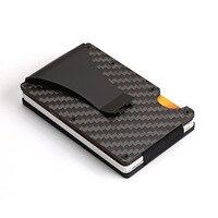 Itopkris Women Aluminum ID Credit Cardholder Travel Slim Rfid Wallet Portable Money Clip Card Holder Case
