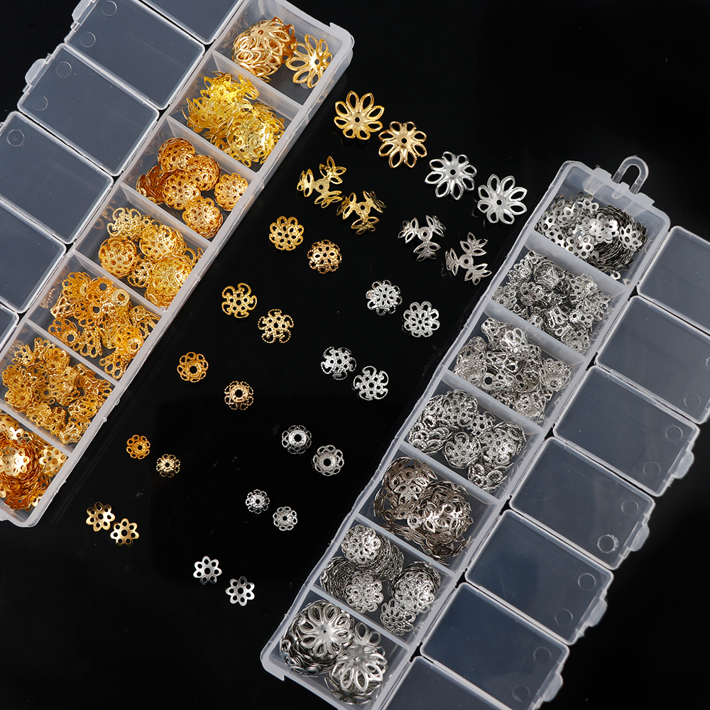 New 6mm 50pcs Metal Hollow Filigree spacer Beads 24K GOLD Gift Alloy beads