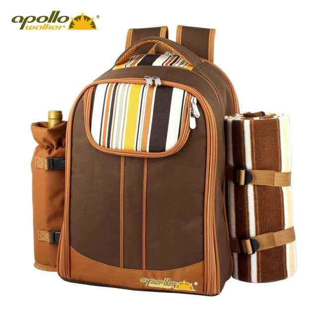 Apollo Обед Мешок портативный дважды плечо многофункциональный посуда посуда установить сумка набор изоляции сумки рюкзак