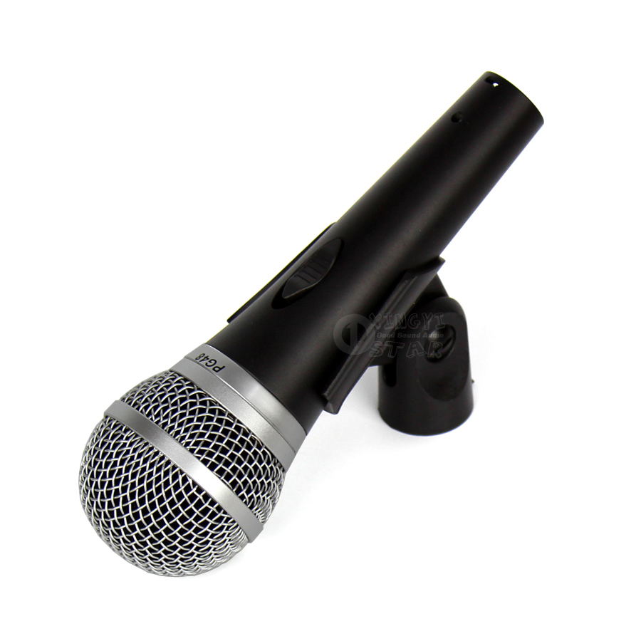 Professional Switch PG48 Handheld Mic Wired Dynamic Microphone For Karaoke Audio Mixer DJ Stage Church PG 48 PA Power Amplifier