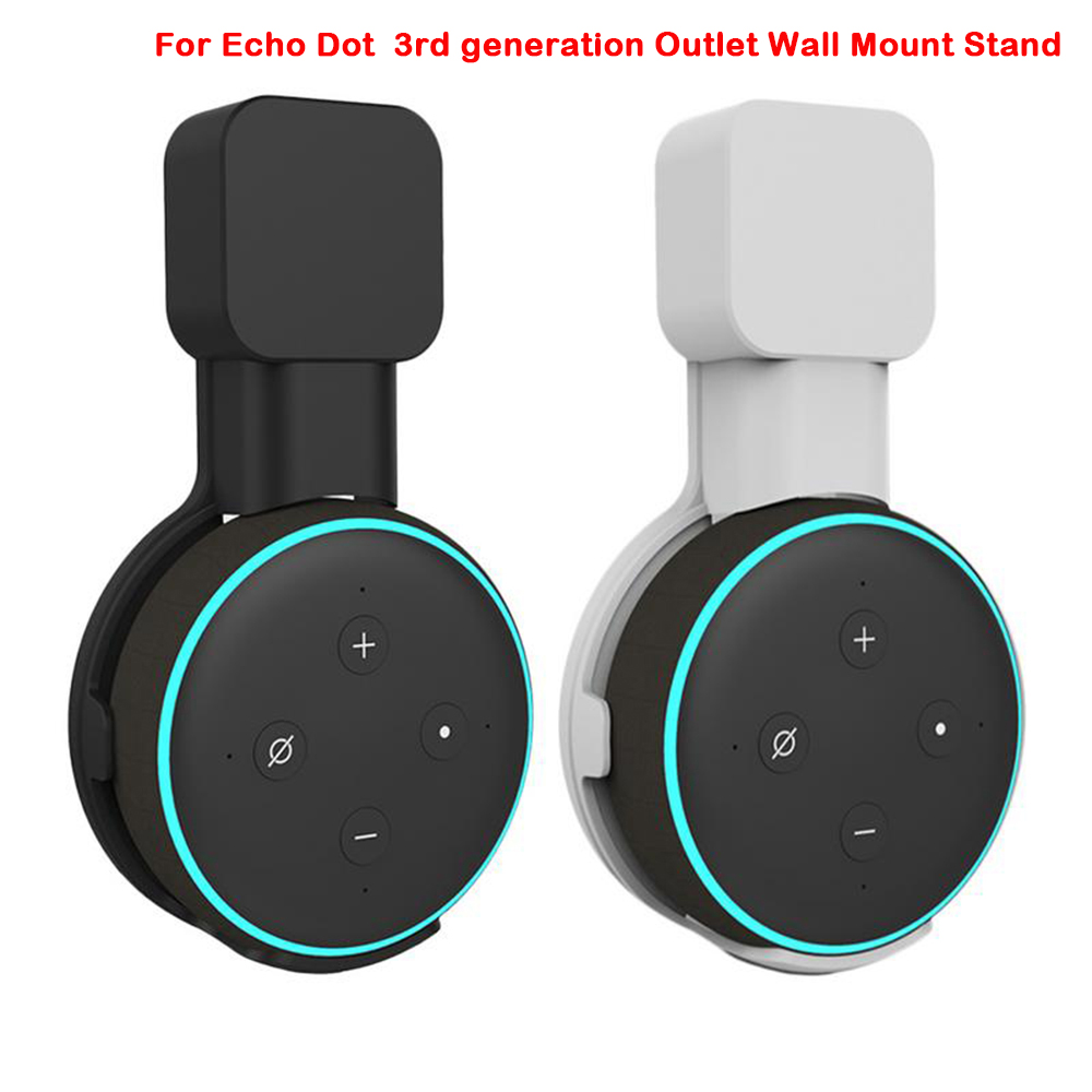 Stand-Holder Case Hanger Mount-Stand Plug Generation Outlet Wall-Mount Echo Dot 3rd