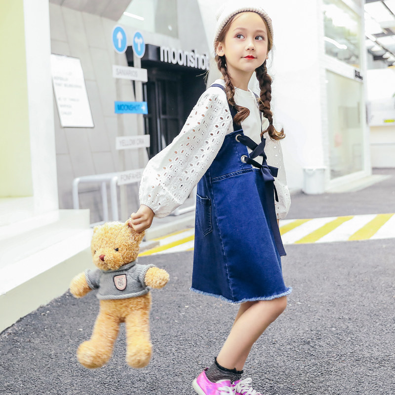 2018 Spring Denim Jeans Dress for Big Little Girls Sisters Matching Clothes  Shcool Teens Overalls Age 45678910 11 12 Years Old - aliexpress.com -  imall.com dbcb9f144b28