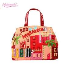 Aidocrystal Women fashion shoulder bag lady high quality leather messenger bag red color elegant handbag Crossbody bags