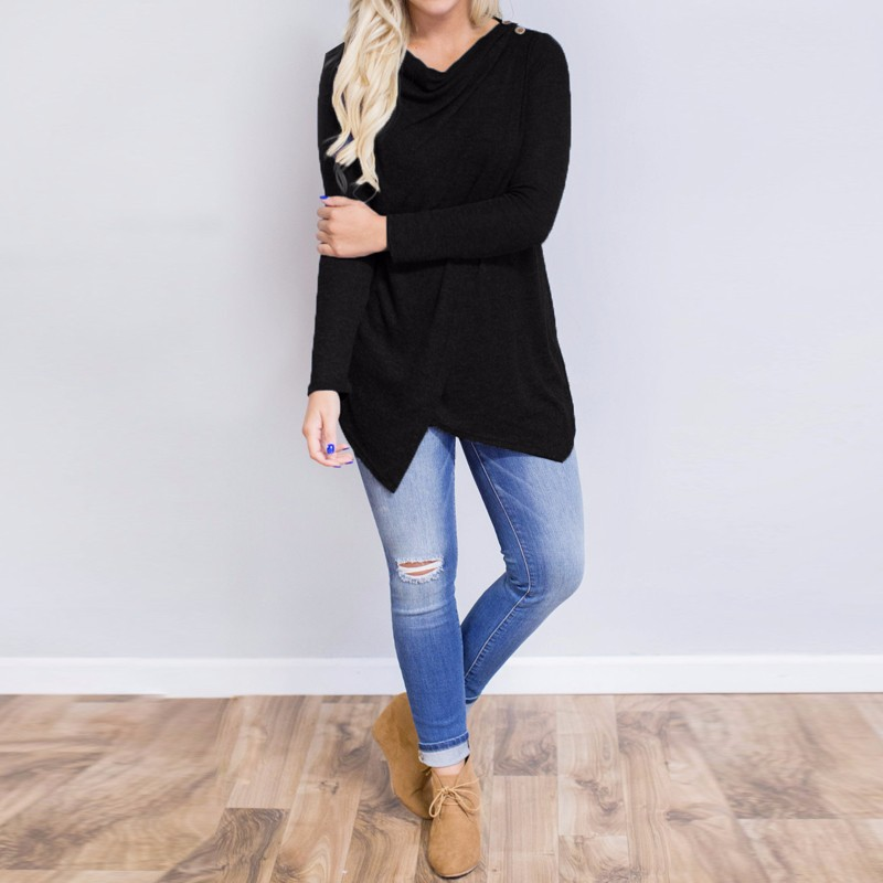 HTB1tyBCOpXXXXb5XVXXq6xXFXXXy - Women Cardigan Long Sleeve O Neck Casual Loose Blouses